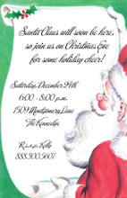 Santa's Checking His List Invitations