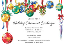 Inspiring Bright Ornaments Holiday Invitations