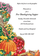 Fall Bounty Cornucopia Invitations