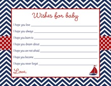 Navy Chevron Nautical Baby Wishes