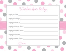 Pink Gray Polka Dot Baby Wishes