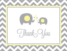 Chevron Yellow Elephant Note