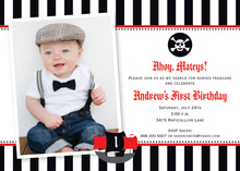 Litte Pirate Photo Birthday Party Invitations