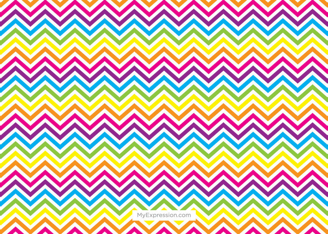 Pottery Party Bright Chevrons Photo Card