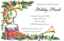 Christmas Instruments Theme Invitations