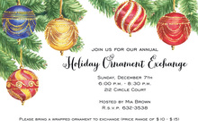 Elegant Christmas Ornaments Invitation