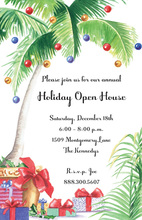 Tropical Christmas Gifts Invitation