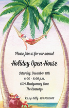 Santa's Tropical Holiday Invitations