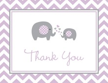 Purple Chevron Elephant Note