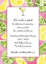 Juicy Lemon Lime Compliment Invitations