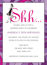 Lavender Shh... Surprise Invitation