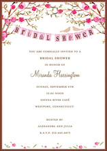 Gorgeous Love Birds Bridal Shower Invitations