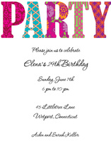 Pretty Patterned Party Invite