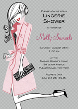 Pretty In Pink Dress Bridal Shower Invitations