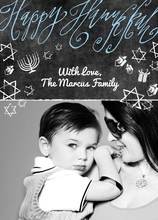 Hanukkah Chalkboard Photo Cards