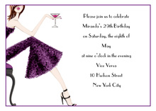 Pretty In Purple Dress Invitation