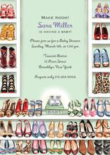 Stylish Shoe Closet Gender Neutral Invitation