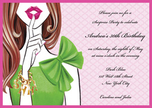 Stylish Surprise Brunette Girl Invitations