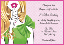 Stylish Surprise Blonde Girl Invitations
