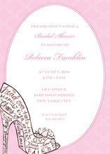 Stunning Shoe Bridal Shower Invitations