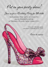 Luxurious Sparkle Party Pump Invitation
