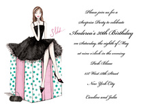 Stylish Surprise Birthday Girl Invitation