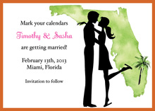 Florida Couple Shower Invitations