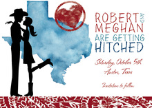 Silhouette Texas Couple Shower Invitations