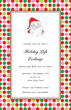 Border Dots Fun Santa Invitations