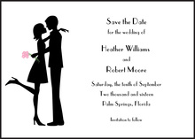 The Kiss Imprintable Invitations