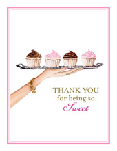Dessert Tray Thank You Cards