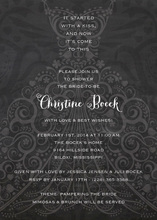 Filigree Dress Chalkboard Invitation