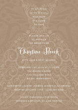 Filigree Dress Beach Invitation