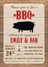 Rustic Wood Western BBQ Party Invitations