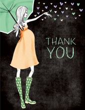 Stylish Shower Chalkboard Neutral Thank You Cards