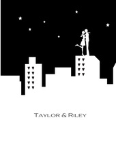 City Silhouette Thank You Cards