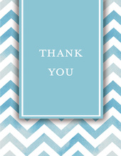 Chevron Blue Thank You Cards