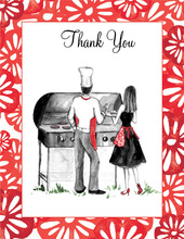 Couple Cookout Thank You Cards