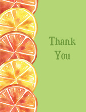 Summer Citrus Thank You Cards