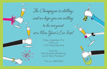New Year Corporate Hands Invitation