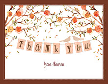 Baby Bird Fall Theme Thank You Cards