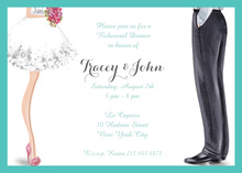 Chic Wedding Couple Invitation Bride Groom Invitations