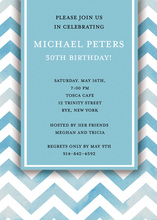 Chevron Blue Invitations