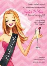 Champagne Toast Bride-to-be Shower Invitations