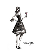 Couture Night Out Thank You Cards