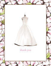 Floral Dress Form Thank You Cards