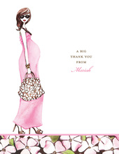 Fashionable Mom Pink Thank You Cards