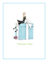 Bride on Box Blonde Thank You Cards
