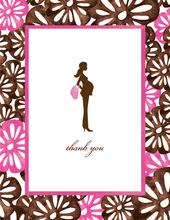 Pretty & Pregnant Floral Thank You Cards