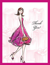 Pretty Pink Bridal Shower Thank You Cards